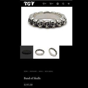 TGF Band of Skulls ring